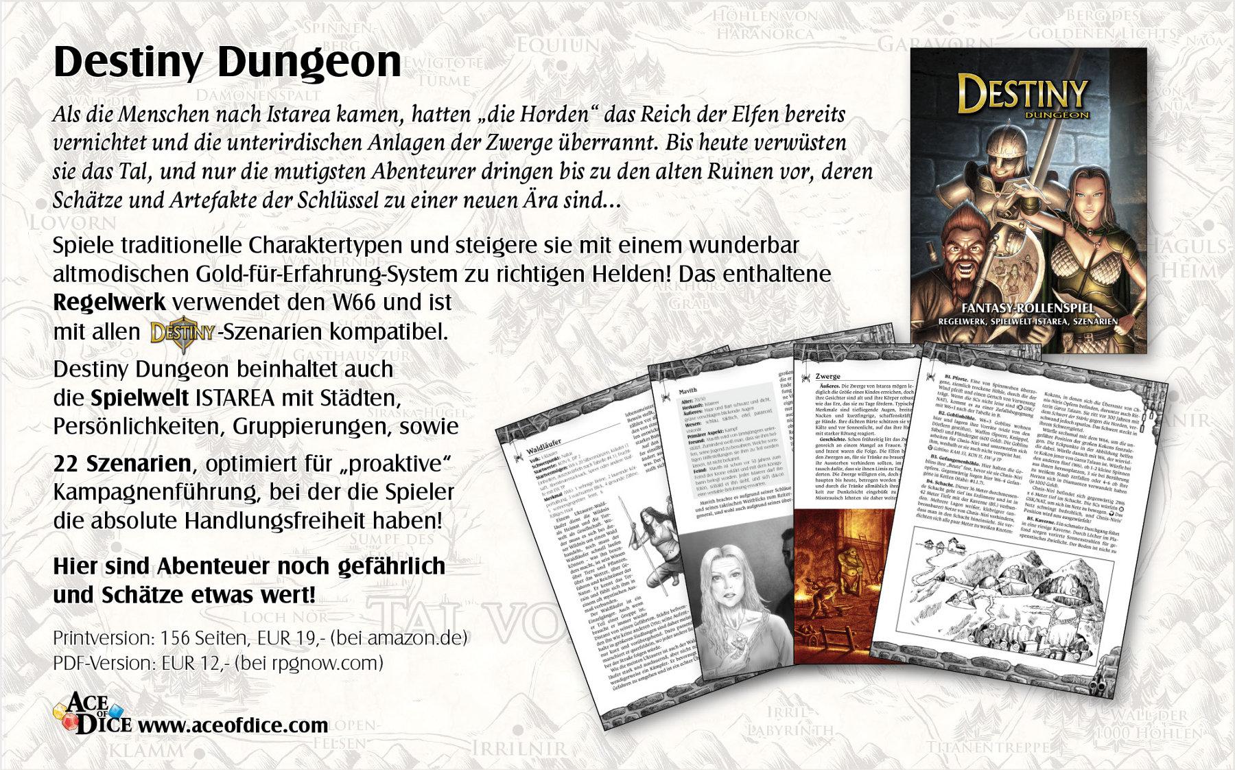 Destiny Dungeon ad